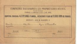 Grande Enveloppe Assurance Les Propriétaires Réunis - Bank & Insurance