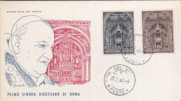 Vatican FDC 1960 Primo Sinodo Diocesano Di Roma - A Kind Of Folder, There Might Have Been Mint Stamps Inside  (G64-74) - FDC