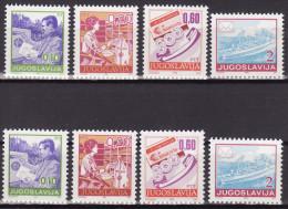 YUGOSLAVIA 1990. Definitive, MNH (**), Mi 2401/04 A, C - 1945-1992 Sozialistische Föderative Republik Jugoslawien