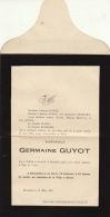 Germaine Guyot Famille Stassart Zellick Evere 1901 - Obituary Notices