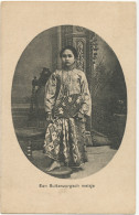 Een Buitenzorgsch Meisje Woman From Buitenzorg Edit. Tio Tek Hong , Weltevreden Eventail , Fan  - Indonesia