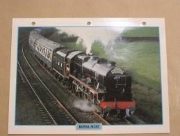 ROYAL SCOT  Vapeur Grande Bretagne Fiche Descriptive Ferroviaire Chemin De Fer Train Locomotive Rail - Fiches Illustrées