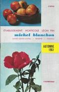 Horticulture/Catalogue/ Etablissement Horticole Léon PIN/Michel Blanchon/SAINT-GENIS-LAVAL/Rhône/1961      CAT156 - Landbouw