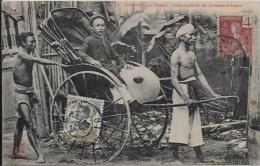 CPA TONKIN Asie Types Métier Circulé Indochine Pousse Pousse - Viêt-Nam