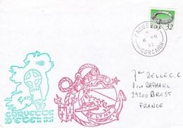 LETTRE BE LINX   CORVETTE D'ETE CORK CACHET PAQUEBOT CORCAIGH IRLANDE EIRE - Marcophilie (Lettres)