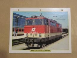 BB SERIE 2043 2143 OBB Autriche Fiche Descriptive Ferroviaire Chemin De Fer Train Locomotive Rail - Fiches Illustrées