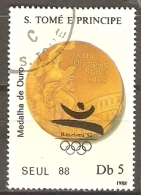 SAO TOME ET PRINCIPE    -   1988.  J.O. De  Séoul.   Oblitéré - São Tomé Und Príncipe