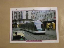 TRAMWAY DE STRASBOURG Tram Tramways  SNCF France  Fiche Descriptive Ferroviaire Chemin De Fer Train Locomotive Rail - Fiches Illustrées