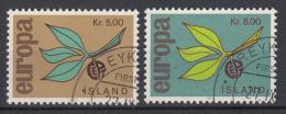 IJSLAND - Michel - 1965 - Nr 395/96 - Gest/Obl/Us - 1944-... Republik