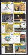 VENEZUELA - N°Y&T - Série  2969A/V - Les 10 Valeurs Se Tenant S/ 20 -  - Sommet De L'OPEP  - Tous Oblitérés - Venezuela