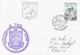 BATIMENT ECOLE  GUEPARD  JOURNEE DE LA MARINE BRUGGE OPSNAV 16/7/88 BELGIQUE - Marcophilie (Lettres)