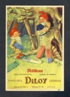Buvard PELIKAN Num.1301. Encre, Gnomes (Ref. 99078) - Buvards, Protège-cahiers Illustrés