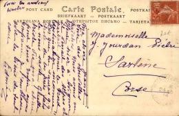 FRANCE - Type Semeuse Surchargé Croix Rouge Seul Sur Carte Postale En 1914 - A Voir- L 5053 - 1877-1920: Periodo Semi Moderne