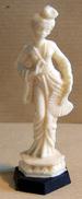 Figurine Publicitaire : Fromage PUR CREM Série Des Statuettes Chinoises : La Danseuse à L'éventail - Figurines