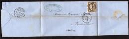Cérès N° 56c Avec Oblitération Losange 1402 Sur Lettre  TB - 1871-1875 Ceres