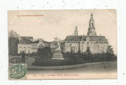 Cp , 64 , PAU , Le Palais D'hiver , Entrée Du Parc , Voyagée - Pau