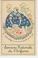 """PUBLICITÉS - Carte éditée Par Le COMITÉ NATIONAL DE L'ENFANCE - """"Il était Un' Bergè-re """" Signée NALY - Publicité"""