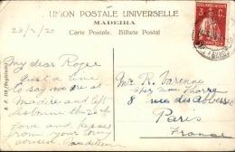 PORTUGAL - Oblitération De Funchal Pour La France En 1920 - A Voir- L 5095 - Funchal
