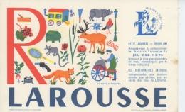 BUVARD - DICTIONNAIRE LE PETIT LAROUSSE - Lettre De L´Alphabet R  - Format 21X13,5cm - Stationeries (flat Articles)