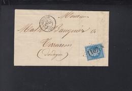 France Lettre 1865 Condom - Poststempel (Briefe)