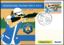 ITALIA / ITALY 2016 - Federazione Italiana Tiro A Volo - Maximum Card Come Da Scansione - Tiro (armi)