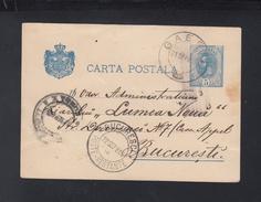 Romania Stationery 1895 Gaesti To Bucuresti - Brieven En Documenten