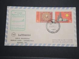 ARGENTINE - Enveloppe 1 Er Vol Buenos Aires / Casablanca En 1971 - A Voir- L 5100 - Argentine