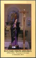 Santino - Beata Maria Vergine Addolorata - Con Preghiera, Venerata In Apollosa (BN) - Santini