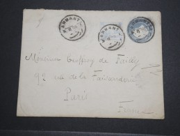 EGYPTE - Oblitération De Armant Sur Entier Postal + Complément Pour La France En 1905 - A Voir - L 5106 - Egypt