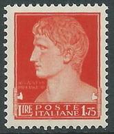 1929-42 REGNO IMPERIALE EFFIGIE 1,75 LIRE MNH ** - Y198 - 1900-44 Victor Emmanuel III
