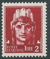 1929-42 REGNO IMPERIALE EFFIGIE 2 LIRE MNH ** - Y198 - 1900-44 Victor Emmanuel III