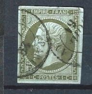 """YT 11 """" Napoléon III  1c. Olive """" 1860 CAD Paris Juil. 1861"""