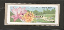 France, Distributeur, 568, Paris, Salon Du Timbre 2004, Type Y, Neuf **, LISA - 1999-2009 Vignettes Illustrées