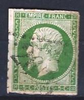 """YT 12 """" Napoléon III  5c.vert """" 1854 GC 261?"""