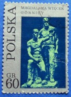 POLAND SCULPTURES M.WIECEK *MINERS* 60 Gr.1971 Mic.2099 - USED - Used Stamps