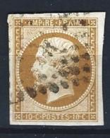 "YT 13A "" Napoléon III  10c. Bistre "" 1853 Gros Points"