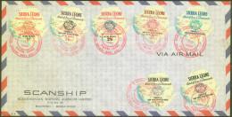 Sierra Leone Stamp Set Diamonds On Airmail 1964 Bb161028 - Minerals