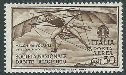 1932 REGNO POSTA AEREA DANTE 50 CENT MH * - Y192 - 1900-44 Victor Emmanuel III