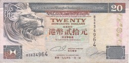 BILLETE DE HONG KONG DE 20 DOLLARS DEL AÑO 1994 (BANKNOTE) - Hong Kong