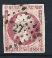 """YT 17B """" Napoléon III  80c. Rose """" 1859 PC 27 AIRE-S-LA-LYS - 1853-1860 Napoleon III"""