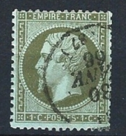 "YT 19 "" Napoléon III  1c. Olive "" 1862 CAD 30 JANV. 66"