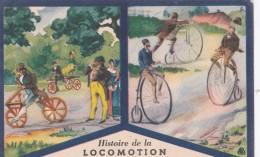 PRODUITS DU LION NOIR (CIRAGE ) ANCETRES DE LA BICYCLETTE DRAISIENNE VELOCIPEDE - Advertising