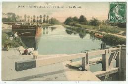 Vitry-aux-Loges (45.Loiret)   Le Canal . 1638  . Péniche - Lavandières - Other Municipalities
