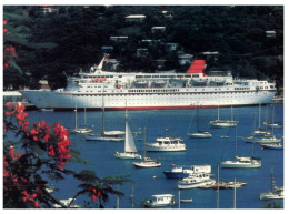 (5000) Cruise Ship - Paquebot - Cunards Countess (posted Fro St Kitts With Stamp) - Dampfer