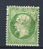 """YT 20 """" Napoléon III  5c. Vert """" 1862 GC 4709 ROQUEBRUNE"""