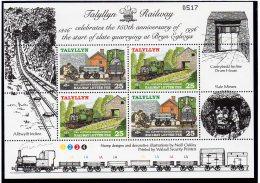 Talyllyn Railway   1996 (#80/81) Slate Mine And 1997 (#83-86) Railway Letter (RLS) Sheetlets/4.    MNH - Trains
