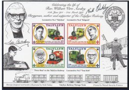 Talyllyn Railway   1998 Rev. Awdry (#87-90), 2000 Steam Locos (#91-94) Sheetlets/4.   MNH - Trains