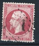 """YT 24 """" Napoléon III  80c. Rose """" 1862 Oblitéré GC"""