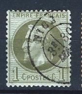"YT 25 "" Napoléon III Lauré 1c. Bronze "" 1870 CAD Nice"