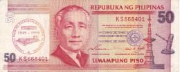 BILLETE DE FILIPINAS DE 50 SAMPUNG PISO DEL AÑO 1999 - 50 ANIVERSARIO 1949-1999  (BANKNOTE) - Filipinas